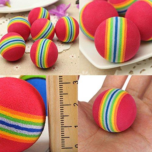 Schaumstoffball in Regenbogenfarben für Katzen