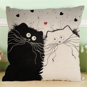 Kissenbezug Longra Vintage Motiv zwei Katzen